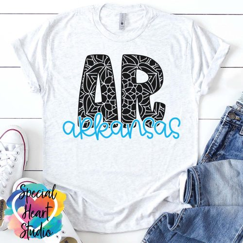 Arkansas Mandala SVG Mockup Shirt