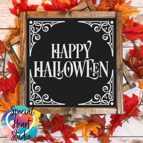 Happy Halloween SVG sign mockup