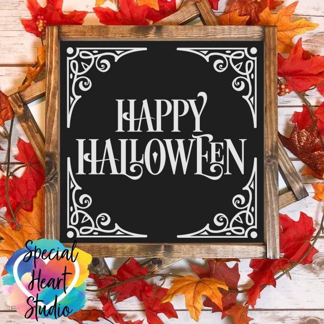 Happy Halloween SVG sign mockup