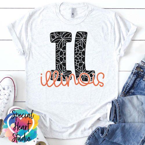 Illinois Mandala SVG shirt mockup