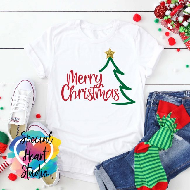 Merry Christmas SVG Cut File Mockup
