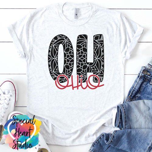 Ohio Mandala SVG shirt mockup