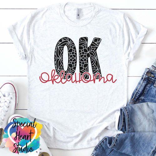 Oklahoma Mandala SVG shirt mockup