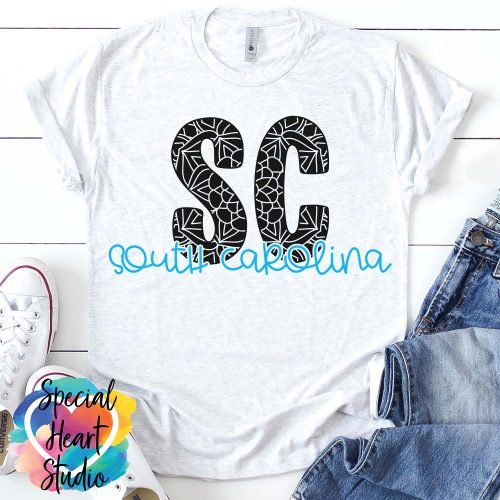 South Carolina Mandala SVG shirt mockup