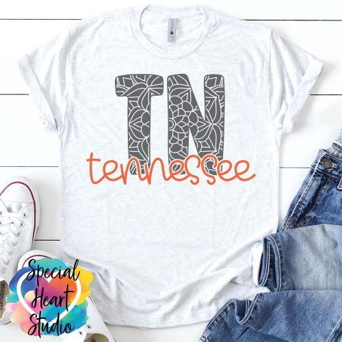 Tennessee mandala SVG shirt mockup