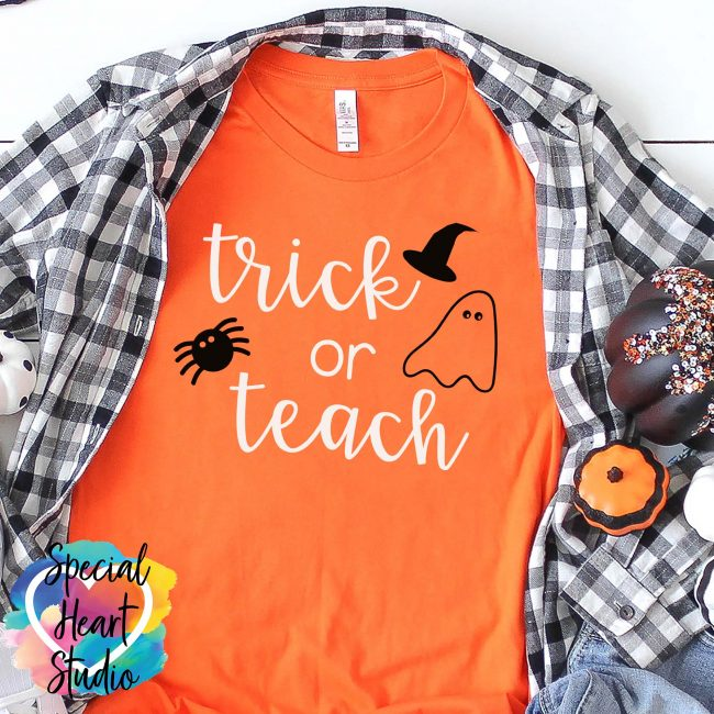 Trick or Teach SVG shirt mockup