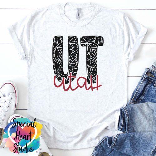 Utah mandala SVG shirt mockup