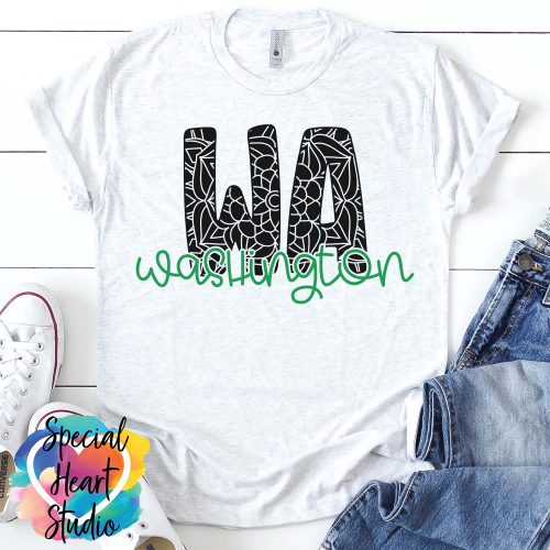 Washington mandala SVG shirt mockup