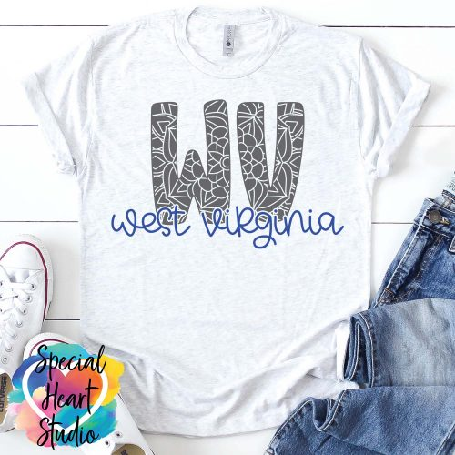 West Virginia Mandala SVG shirt mockup