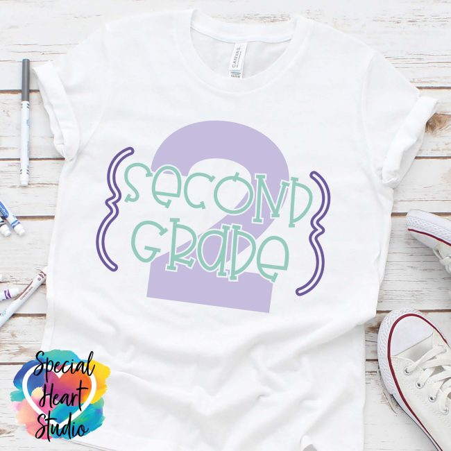 Second Grade 2 shirt mockup