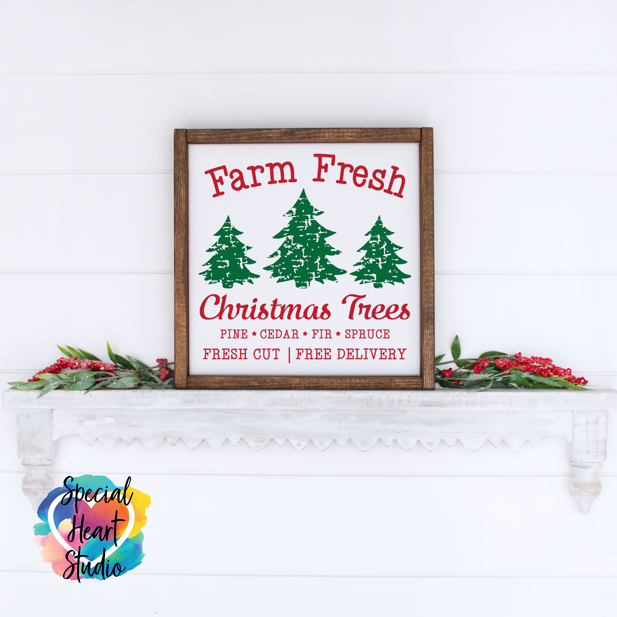 Farm Fresh Christmas Tree Farm Svg Free Svg Cut Files Create Your Diy Projects Using Your Cricut Explore Silhouette And More The Free Cut Files Include Svg Dxf Eps And Png