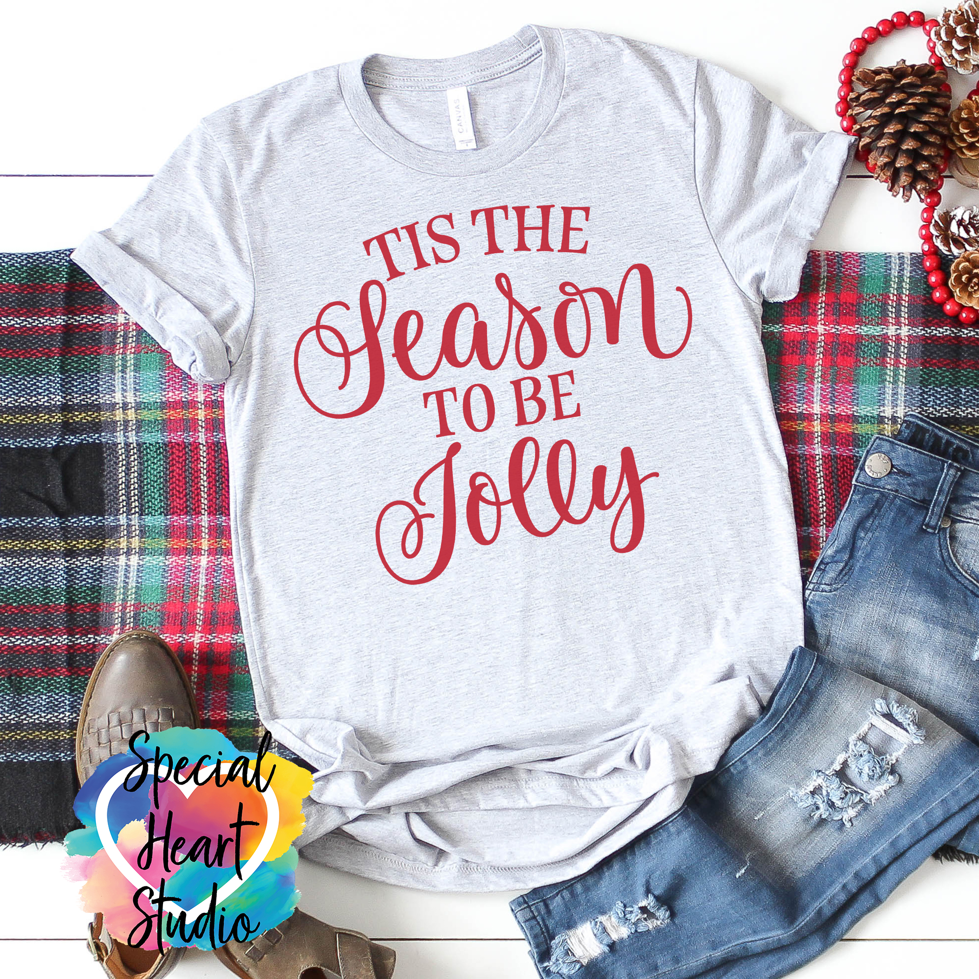 Tis The Season To Be Jolly Svg Cut File Special Heart Studio
