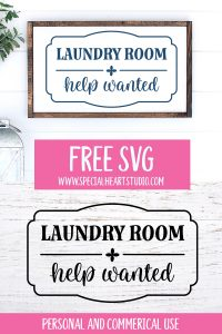 Laundry Room Help Wanted Wood framed sign