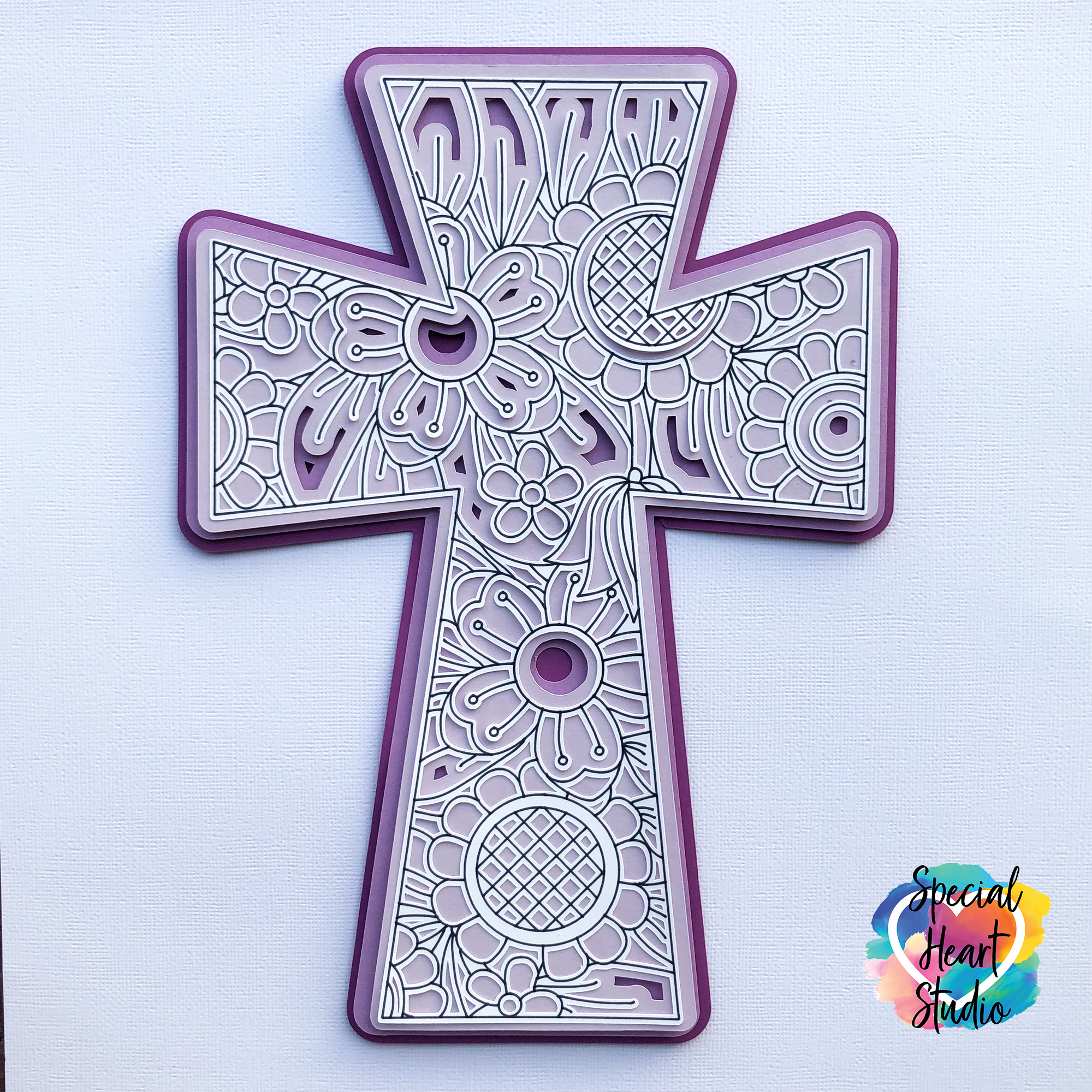 Free Layered Cross Svg Special Heart Studio Cut Files Crafts And Fun