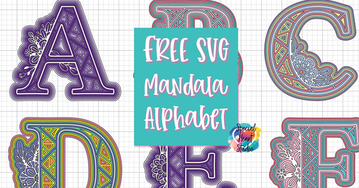 Download FREE LAYERED ALPHA MANDALA SVG SET - Special Heart Studio