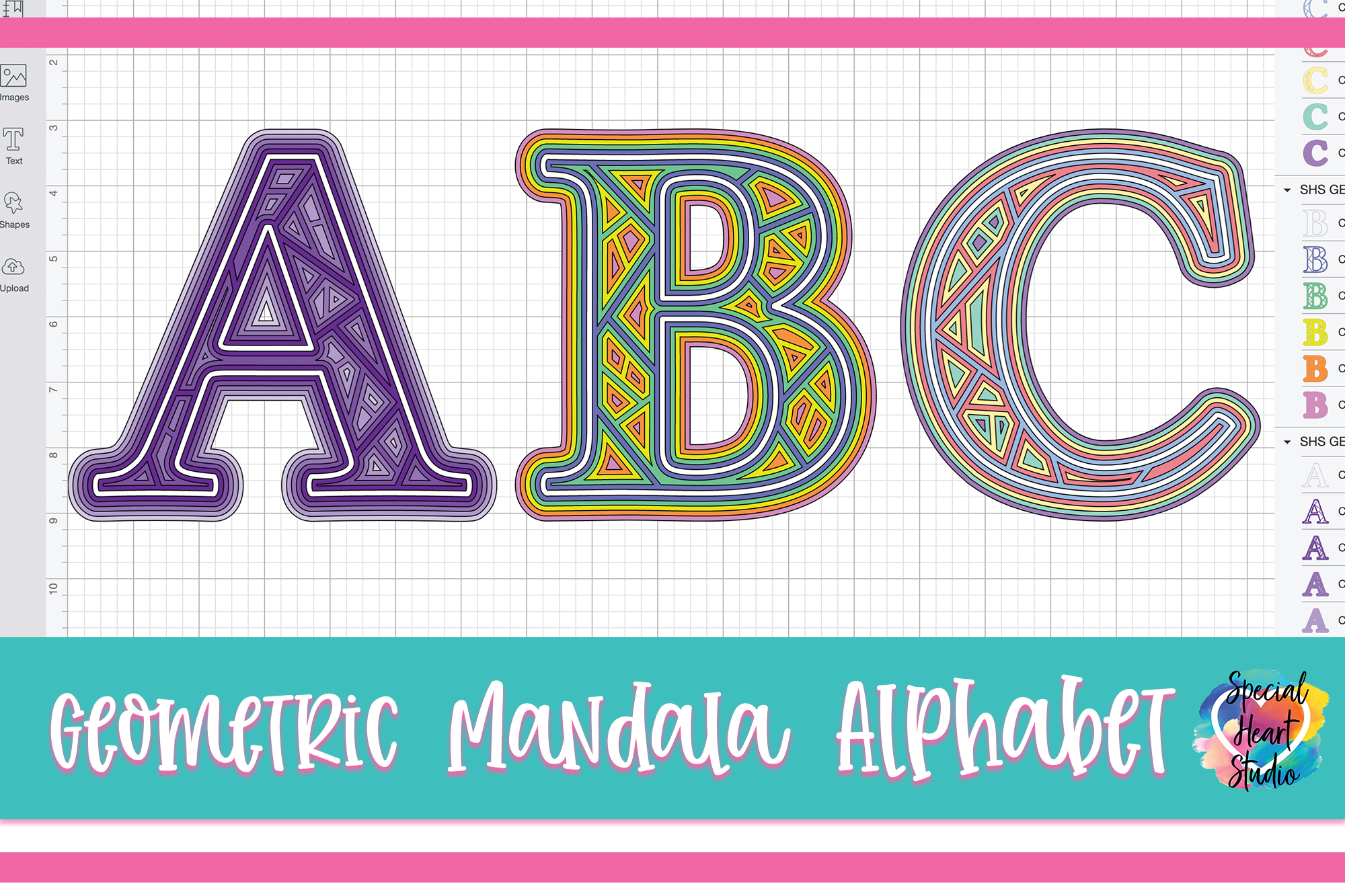 Download LAYERED GEOMETRIC ALPHABET FREE SVG CUT FILE - Special ...