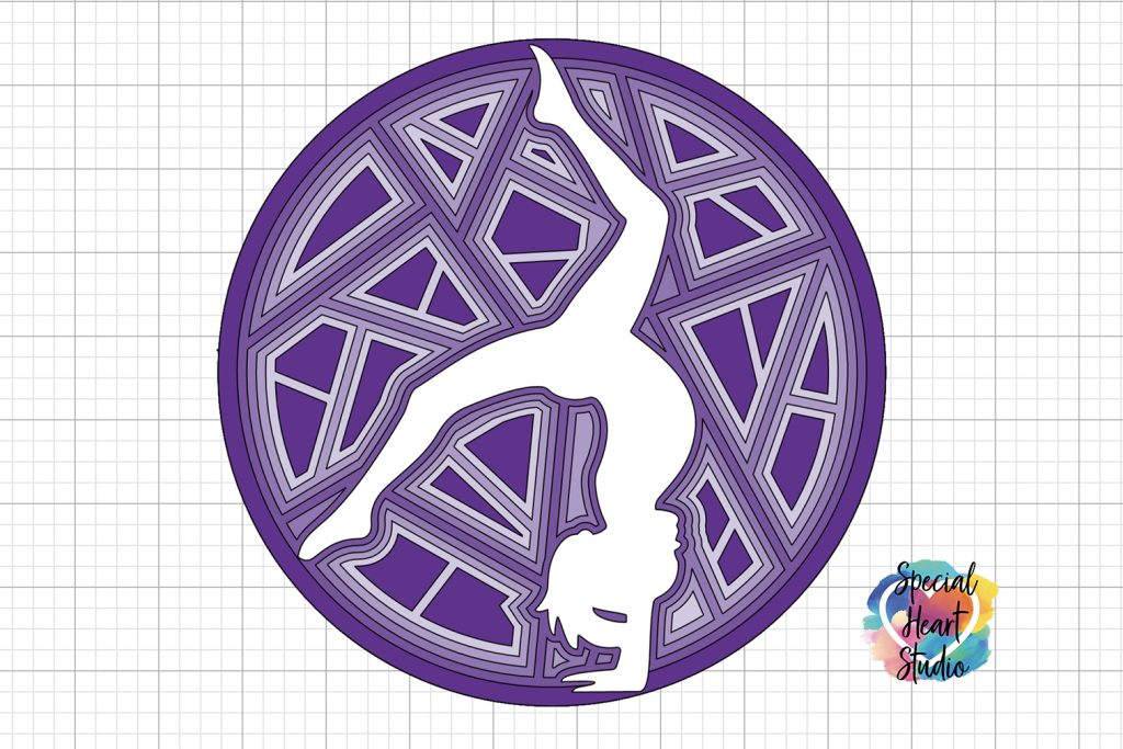 Layered Gymnastics Mandala Cut File Special Heart Studio