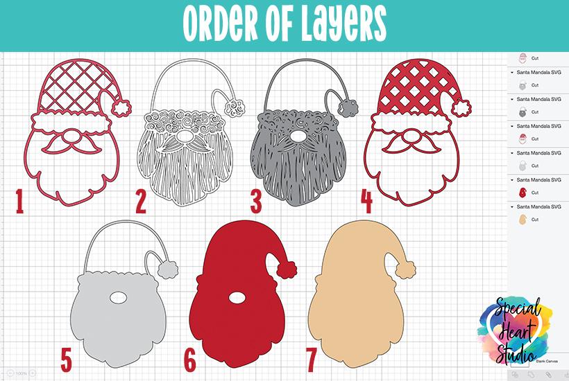 Free Layered Santa Cut File Special Heart Studio