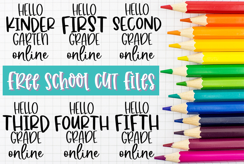 Free Hello Grades SVG Cut Files