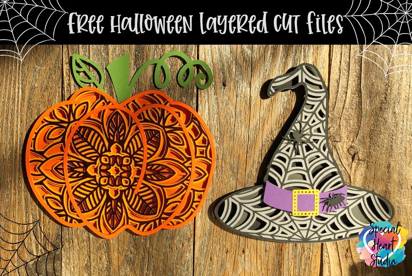 Halloween layered SVG cut file 3D Bat Layered Mandala SVG file