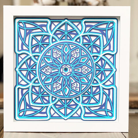 How To Cut And Assemble A Square Layered Mandala