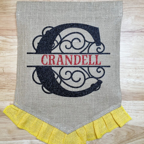 How To Make A Garden Flag with Heat Transfer Vinyl