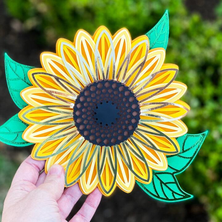 How to Make a 3D Layered Sunflower Mandala