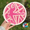LAYERED FIGURE SKATER MANDALA - FREE CUT FILE