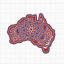 AUSTRALIA LAYERED MANDALA - FREE CUT FILE